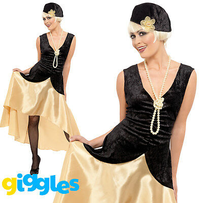 1920s Womens Outfits (Gatsby Girl Costume 1920s Charleston Flapper Womens Ladies Fancy Dress)