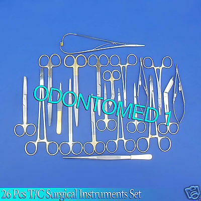 26 Pc Tc Surgical Veterinary Dental Instruments Set W Tungsten Carbide Inserts