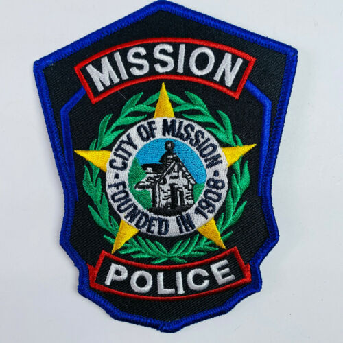 Mission Police Texas Patch (A2)