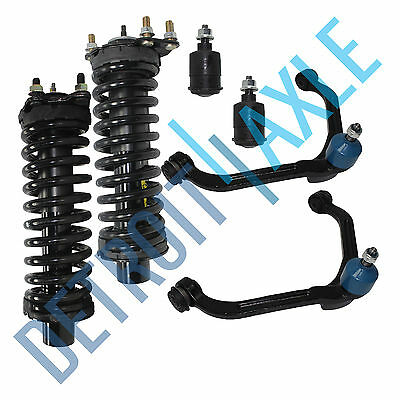 New Set 2 Front Strut Assembly Set  Upper Control Arms  All 4 Ball Joints