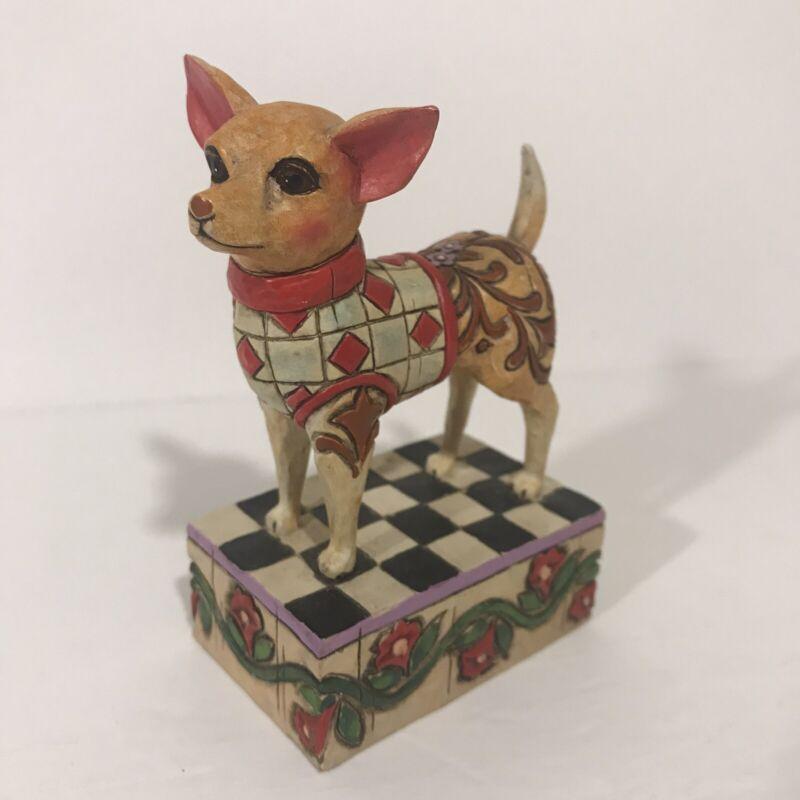 "Jim Shore's ""Cheech"" Heartwood Creek Collectible Chihuahua Dog Figurine 2005"