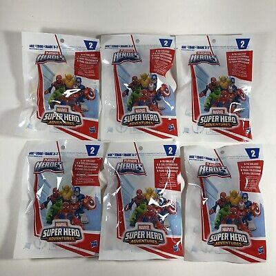 Playskool Heroes Marvel Super Hero Adventures Series 2 Complete Set of 6 SEALED