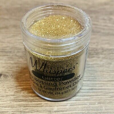 Whispers Gold Tinsel Embossing Powder, 1 oz, Non-toxic, Scrapbooking