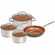 NuWave 7 Piece Induction Cookware Set Non Stick Silver