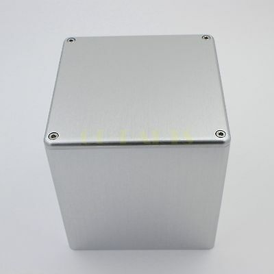 - 1PC silver aluminum transformer triod protect cover enclosure DIY 134*134*136mm