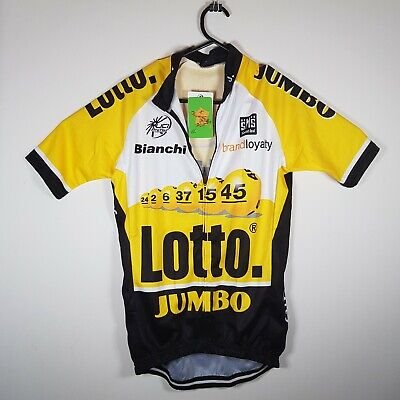 SMS Santini New With Tags Lotto Jumbo Bianchi Team Cycling Jersey Size M NWT