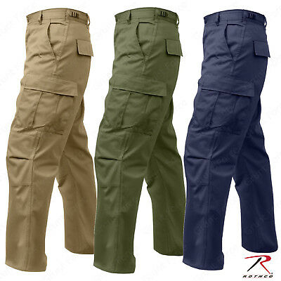 Rothco Relaxed Fit Zipper Fly BDU Cargo Pants - Olive Drab or Khaki or Navy (Olive Drab Bdu Pants)