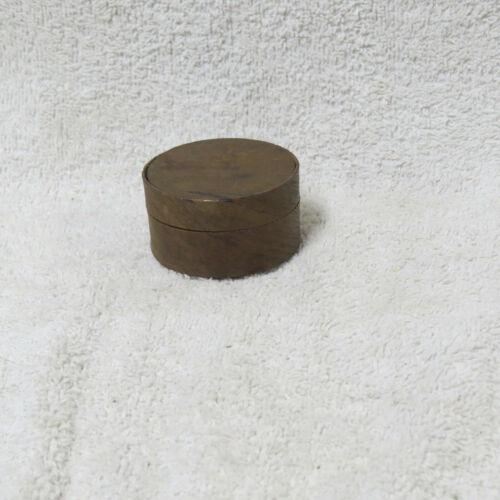Antique 19th-Century Mount Washington Box - Miniature Round - Original - NICE!