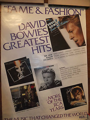David Bowie original poster Fame and Fashion promo RARE