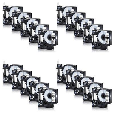 20pk Black On White Label Tape For Dymo D1 45013 12mm X 7m 12 S0720530