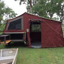 Off road Camper Trailer with aluminium boat and 8 hp motor King Leopold Ranges West Kimberley Preview