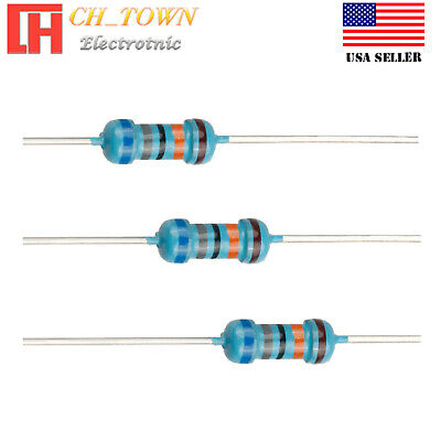 100pcs 680k Ohm Resistor Metal Film Resistors 1 Tolerance