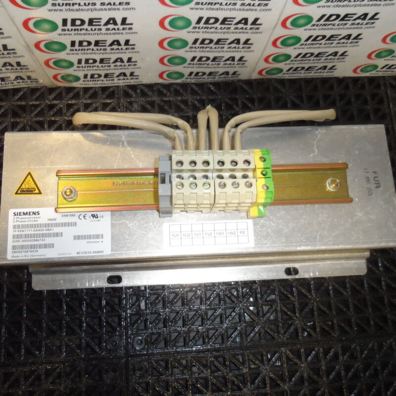 Siemens 6SN1111-0AA00-0BA1 Line Reactor - New In Box