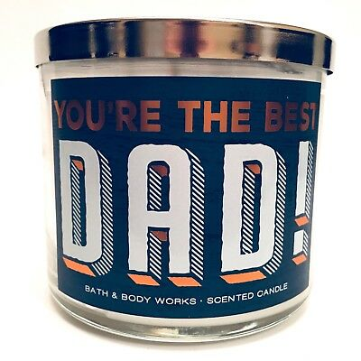 NEW 1 BATH & BODY WORKS YOU'RE THE BEST DAD 3-WICK SCENTED LARGE 14.5 OZ