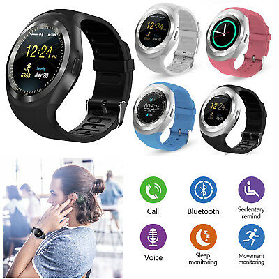 (Round Touch Screen Bluetooth Smart Watch Phone Camera For LG Tribute 3 G Stylo 4)