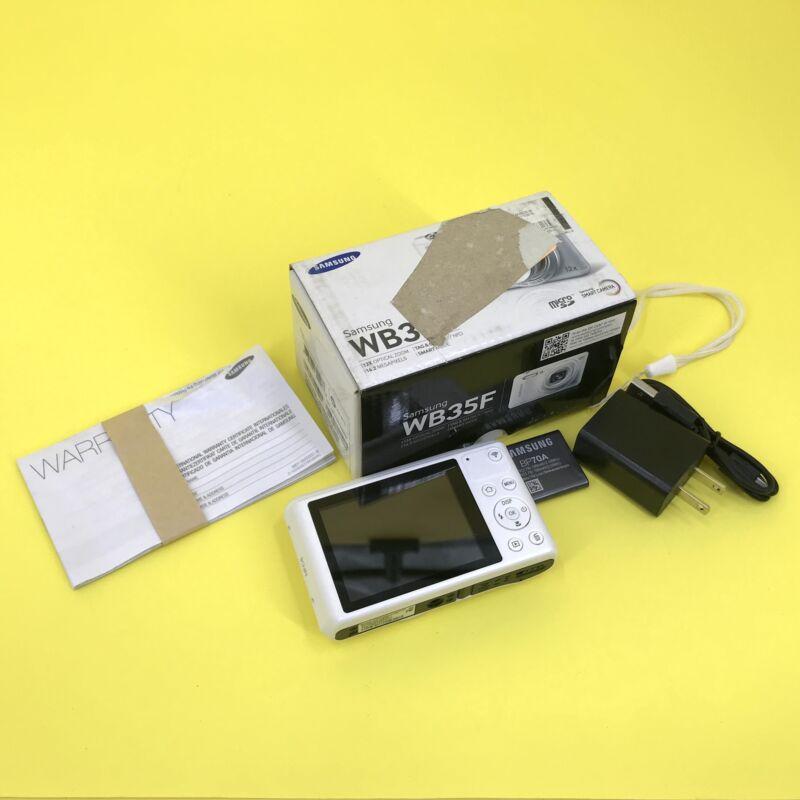 Samsung WB Series Model WB35F 16.2MP Digital Camera White #PU0483