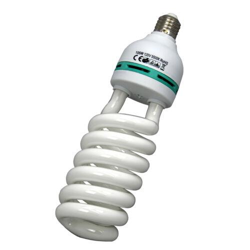 105W 5500K Continuous Lighting Bulb Photo Studio Energy Saving Daylight Lamp