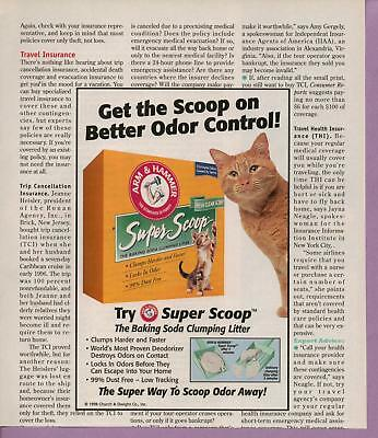 1998 Magazine Advertisement Page Arm & Hammer Super Scoop Cat Litter Kitty Ad