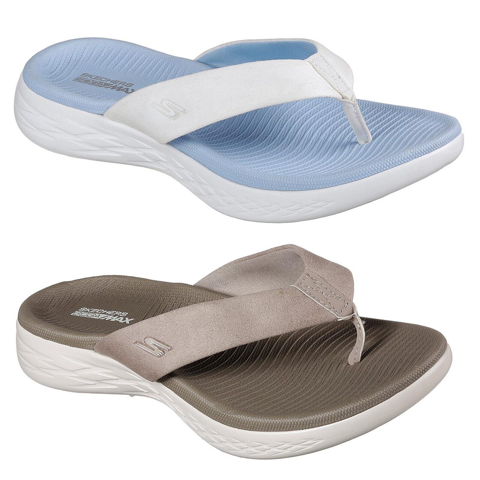 a3fdda9ed86b Details about Skechers On The Go 600 Polished Flip Flops Womens Summer Toe  Post Sandals 15303