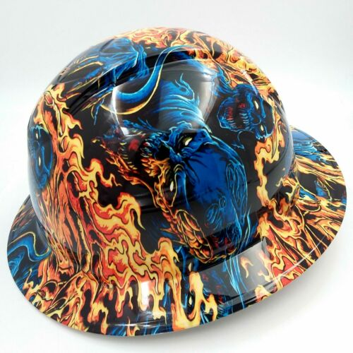 Hard Hat FULL BRIM custom hydro dipped , OSHA approved ICE SKULL BATTLE ROYAL 1
