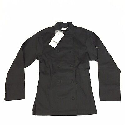 Chef Works Chef Coat Long Sleeve - Womens Size Xs - Black