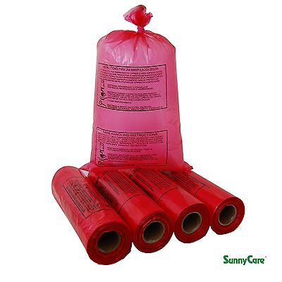 4 Roll 11x19 Ldpe Red Produce Grocery Supermarket Bag Safe Handling 1.25mil