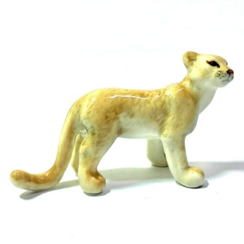 MINIATURE PUMAS TIGER STATUE CERAMIC WILD ANIMAL FIGURINE COLLECTIBLES DECOR NEW
