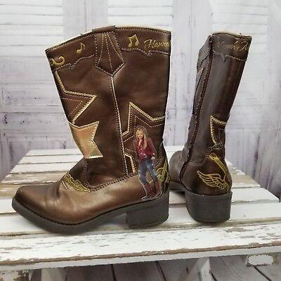Hannah Montana Boots girl cowboy western 12 disney youth star shoes costume](Girls Cowboy Costume)