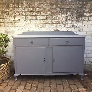 Rustic grey French provincial vintage sideboard buffet Leichhardt Leichhardt Area Preview