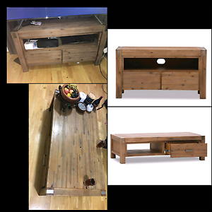 Silverwood matching TV unit & coffee table Mount Gravatt Brisbane South East Preview
