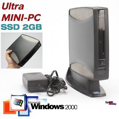 Mini-ordinateur pc avec 2gb ssd pour windows win 2000 pro xp 512mb rs-232 dvi