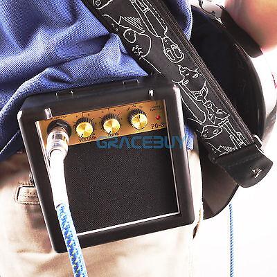 Mini guitarra amplificador altavoz portátil 3W para guitarra eléctrica ukelele
