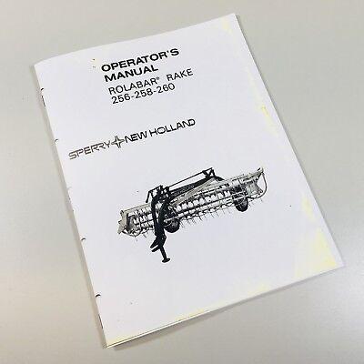 New Holland 256 258 260 Rolabar Rake Owner Operators Manual