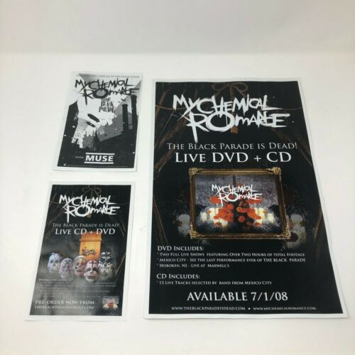 Lot of 3 My Chemical Romance Vintage Poster Ads - The Black Parade is Dead! 08