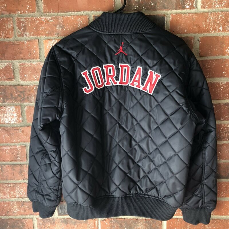 Nike Jordan Jumpman Boys Quilted Black Bomber Jacket XL (13-15 years) Youth