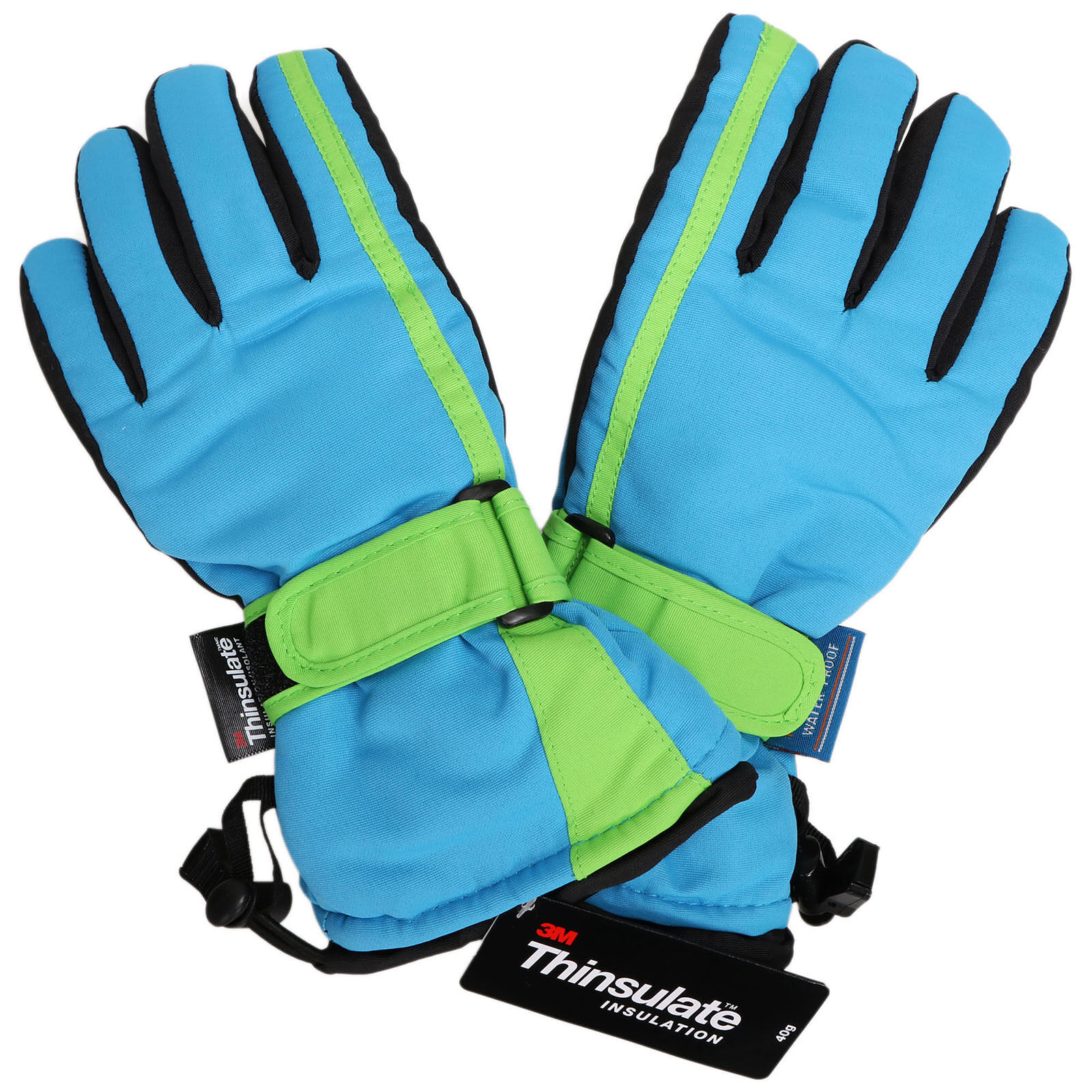 Boys Kids Snow Ski Glove Waterproof Thinsulate Winter Warm M