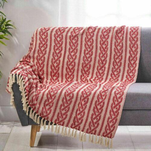 Jaquon Boho Cotton Throw Blanket Bedding
