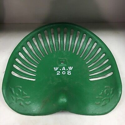 Vintage Cast Iron Implement Seat Cast Iron Tractor Seat Walter A. Wood