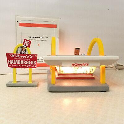 VTG 1996 McDonalds Classic McMemories Light-up Restaurant Sign & Certificate