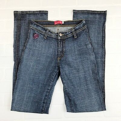 APPLE BOTTOMS Jeans SZ 4 Stretch Denim Straight Leg Apple Pockets 32.5