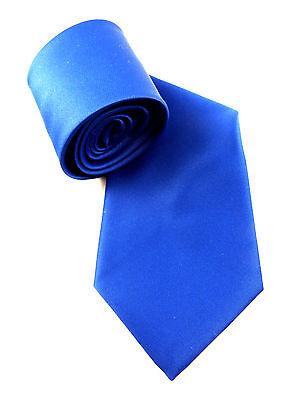 ELEGANTE DAMEN UNI KRAWATTE WOMEN´S TIE COBALT KÖNIGS BLAU ROYAL BLUE