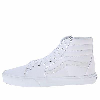 Vans Sk8 Hi White - Men's Vans Sk8-Hi Top Fashion Sneaker Core Classic True White Canvas All SZs NEW