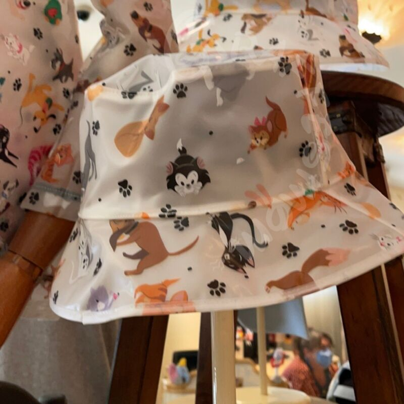 Disney Parks Reigning Cats and Dogs Bucket Rain Hat for Adults