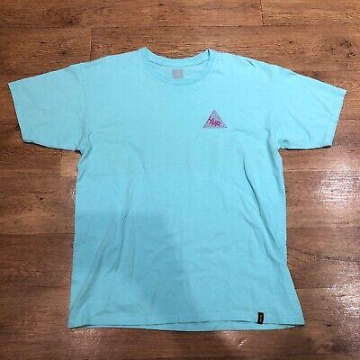 Huf T Shirt Big Logo Blue Large