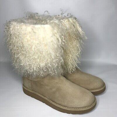 70e1712878d UGG Lida Natural Tall Mongolian Sheepskin Cuff Boo