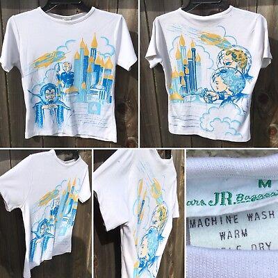 Vintage Flash Gordon T-Shirt Sears JR Bazaar M Front Print And Back Graphic Tee