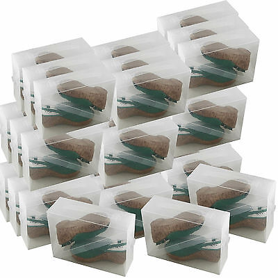 30x Cajas Almacenaje Zapatos PP368TG Apilable Plegable Organizador Transparente