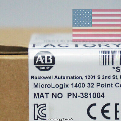 Allen-bradley Micrologix1400 32point 120v Ac Controller 1766-l32awaa Us In Stock