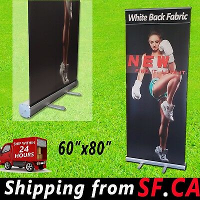 Standard Retractable Roll Up Banner Stand Trade Show Pop Up Display60 X 80