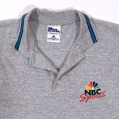 Nbc Sports Polo Shirt Mens Xl Pro Player 100  Cotton Rugby Short Sleeve Casual